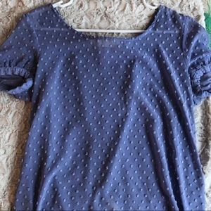 Urban outfitters sheer polka dot periwinkle top